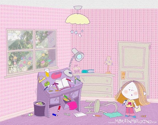 Marina y el escritorio divertido